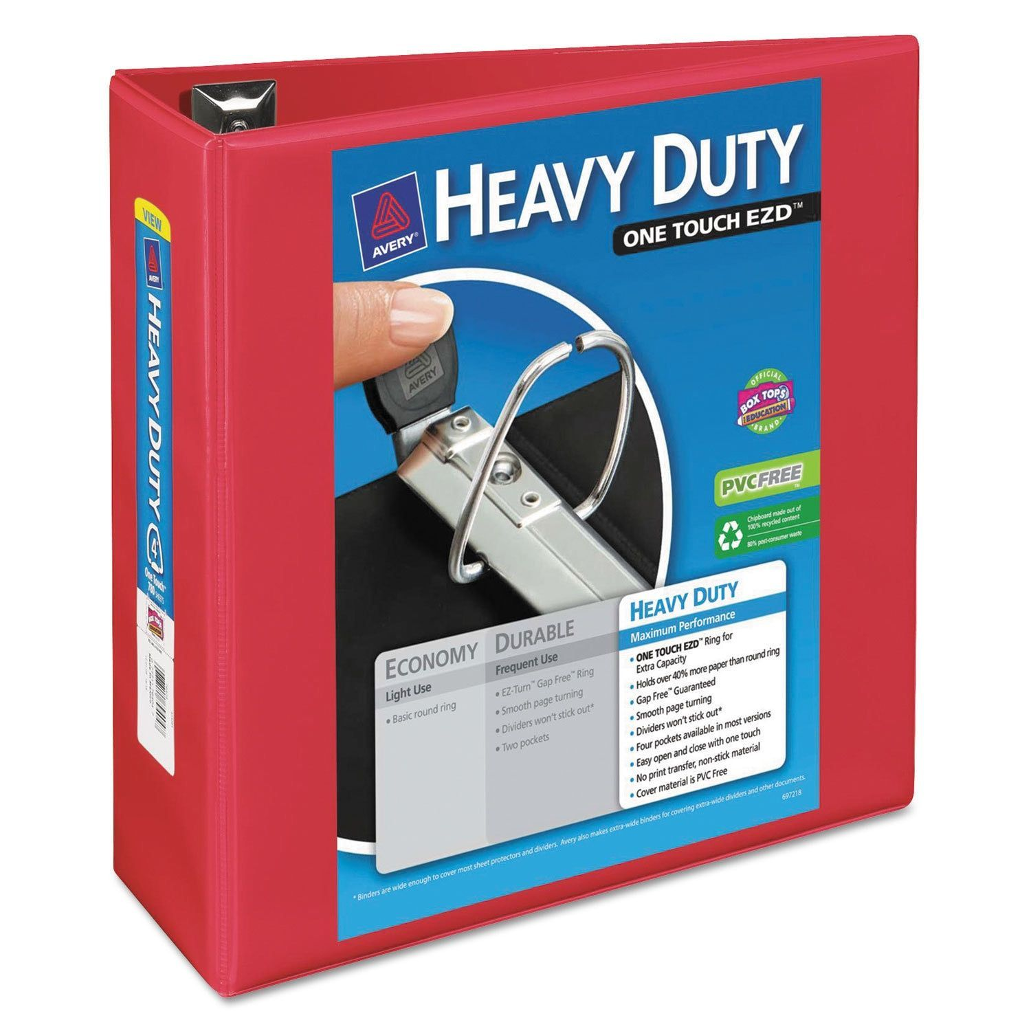 Avery Heavy-Duty View Binder With Locking 1-Touch EZD