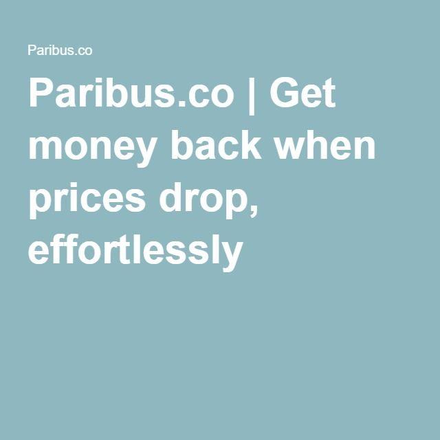Paribus.co | Get money back when prices drop, effortlessly