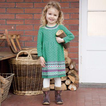 Girls Green Fair Isle Dress, Girls Dresses, Girl Clothes, Girls ...