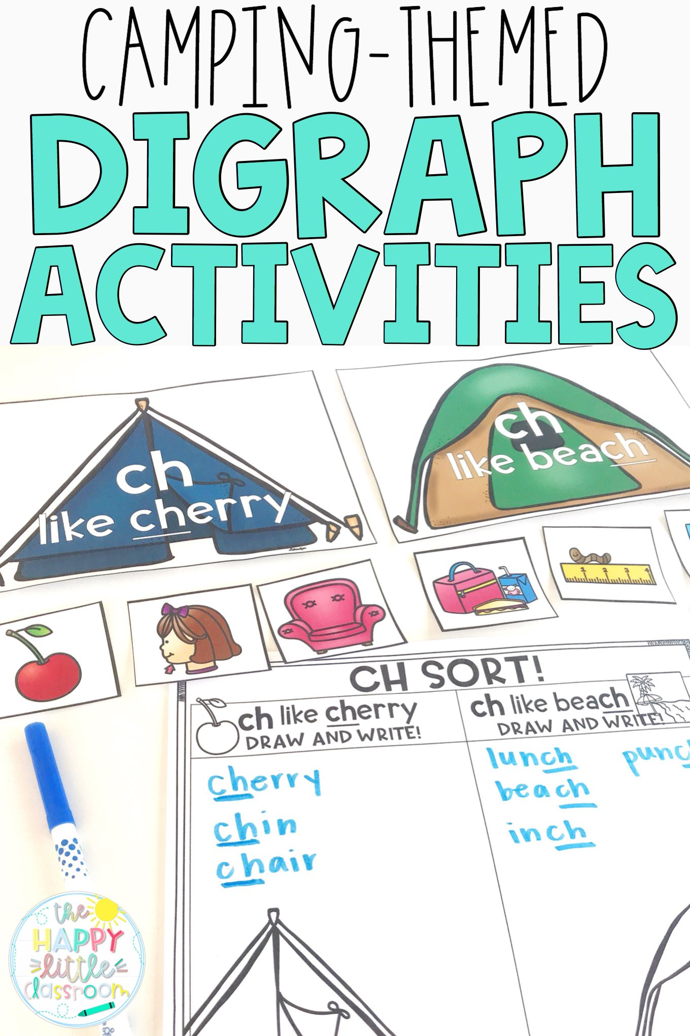 Camping Themed Digraph Activities The Bundle