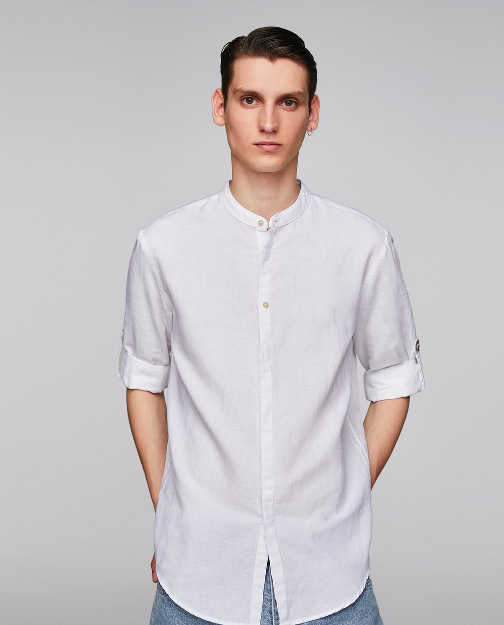 4eab88c234 Image 2 of SHIRT WITH BUTTONED SLEEVE TABS from Zara | Anthony and ...
