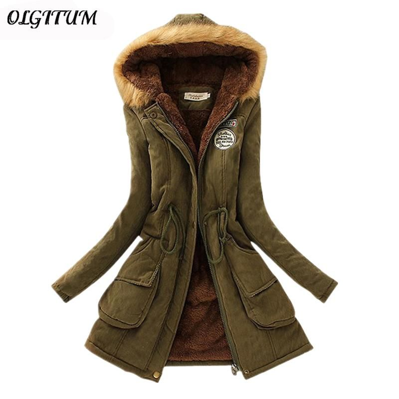 2017 New Parkas Female Women Winter Coat Thickening Cotton Winter Jacket Womens Outwear is part of Clothes Winter Coat - GenderWomen Sleeve Length(cm)Full DecorationPatch Designs,Adjustable Waist,Pattern,Pockets,Spliced,Zippers Model NumberCC001 StyleCasual Closure TypeZipper MaterialPolyester,Cotton Pattern TypeSolid Weight1KG HoodedYes Clothing LengthLong TypeSlim Brand NameOLGITUM Fabric TypeDenim ThicknessThick FillingCotton Outerwear TypeDown & Parkas Down Content90%