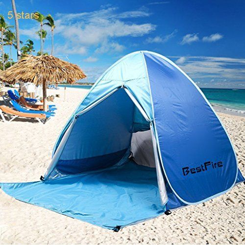 BestFire Outdoor Automatic Pop up Instant Portable Cabana Beach Tent Anti UV Canopy Sun Shade Sport & BestFire Outdoor Automatic Pop up Instant Portable Cabana Beach ...