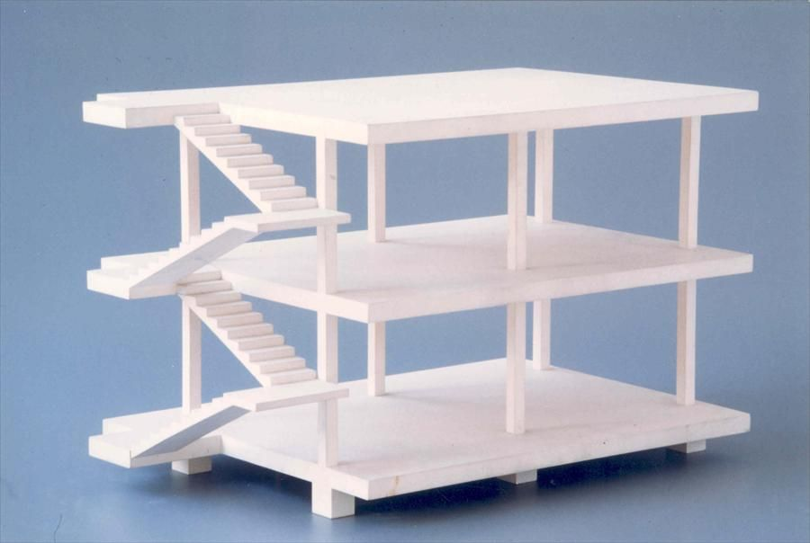 Fondation Le Corbusier - Projects - Maison Dom-Ino Le - maquette de maison a construire