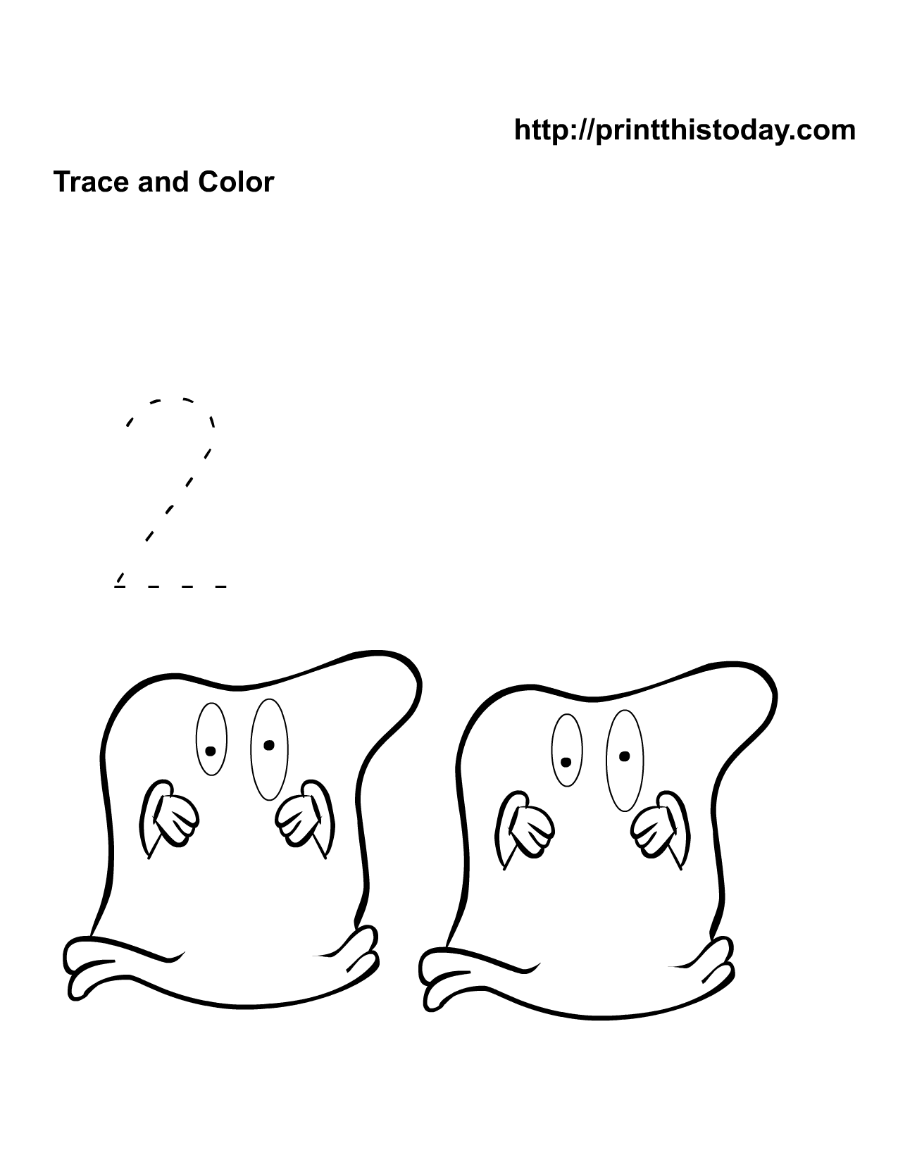 Halloween Math worksheet with Number Two | Therapy thoughts ...