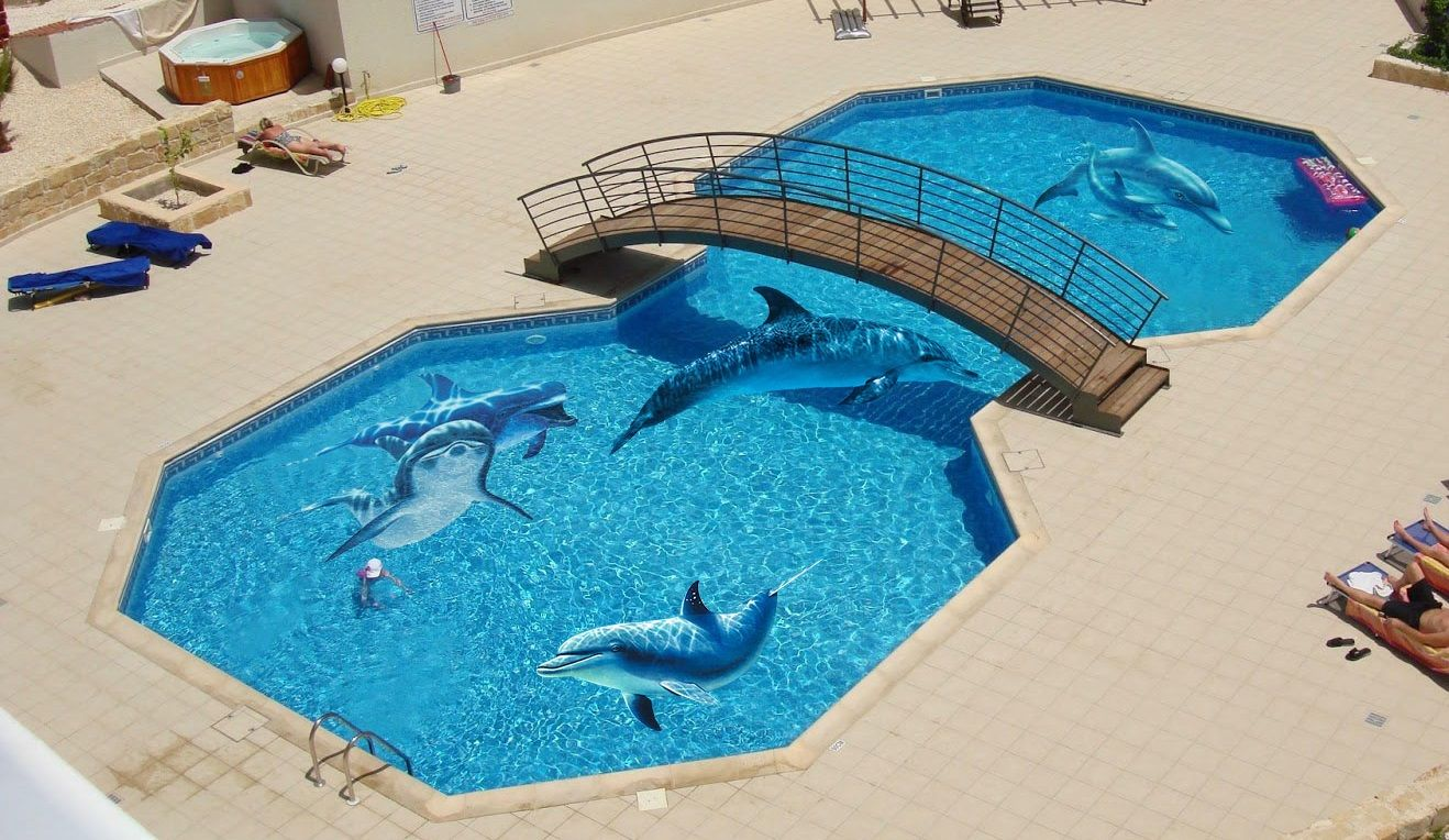 Image result for top view of painted swimming pool designs ...