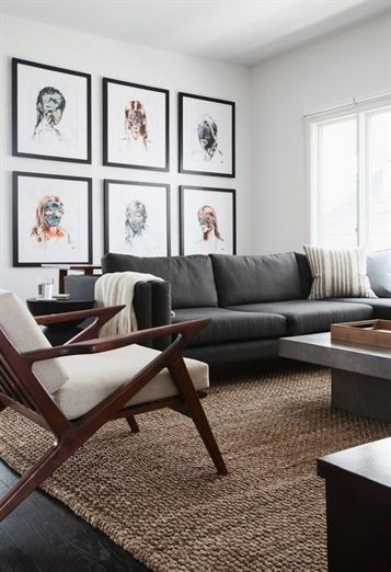 Mid Century Modern Living Room Armchair Ideas For Side Tables With Jute Rug Midcentury Hardwood Floors Modrest Morley Concrete Coffee Table Contemporarylivingrooms