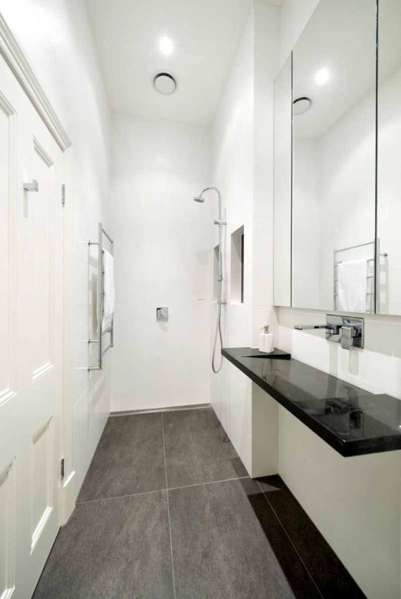 Small narrow Bathroom Layouts with Shower | Tiny Modern Bathroom ...