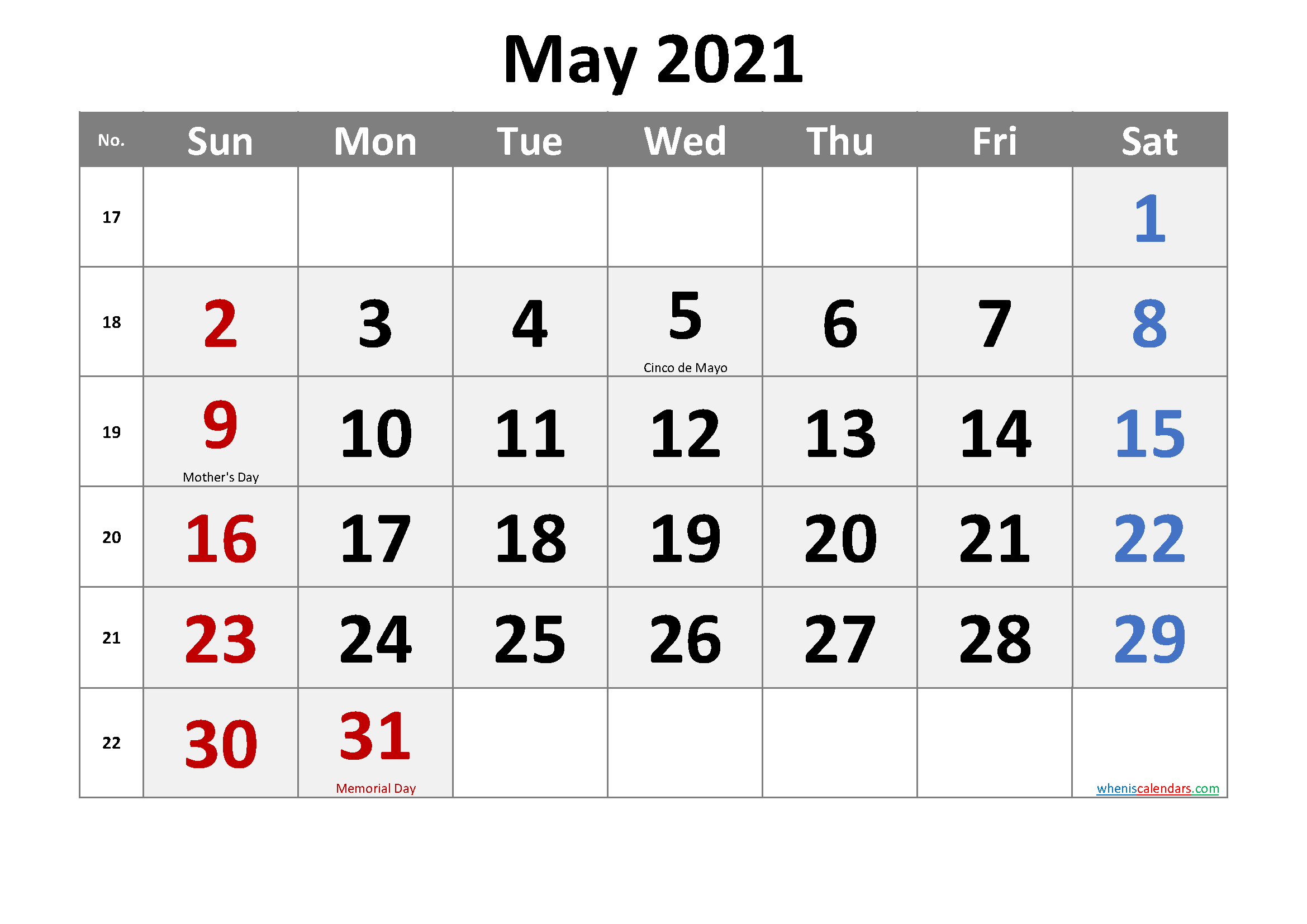 Free Printable May 2021 Calendar In 2020 Printable Calendar July Calendar Printables 2021 Calendar