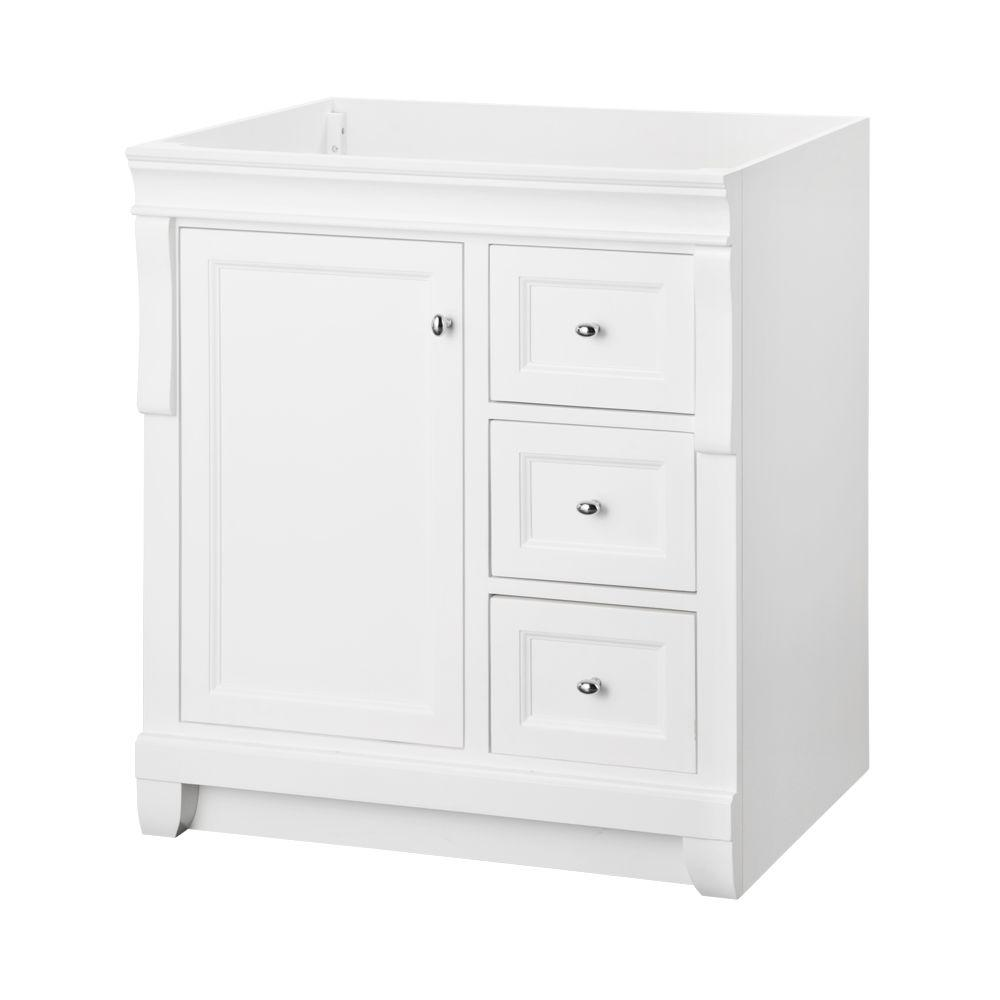 Home Decorators Collection Naples 30 In W X 21 75 In D Bath Vanity Cabinet In White Nawa3021d White Vanity Bathroom 30 Inch Vanity Vanity Cabinet