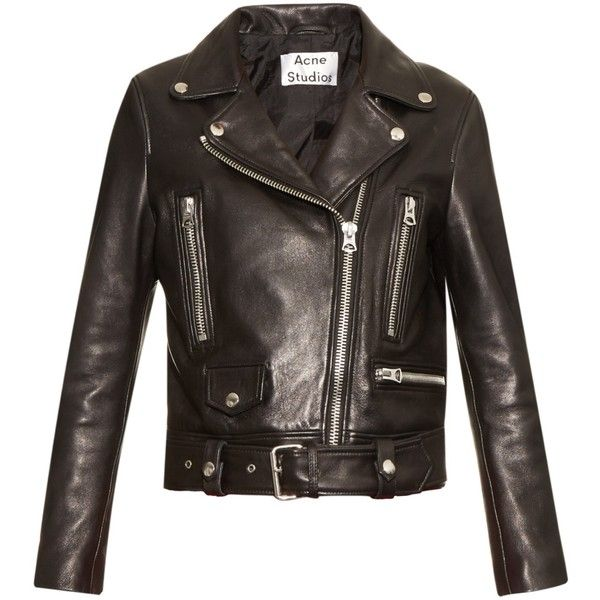 f7350674d Acne Studios Mock leather biker jacket (25 185 ZAR) ❤ liked on ...