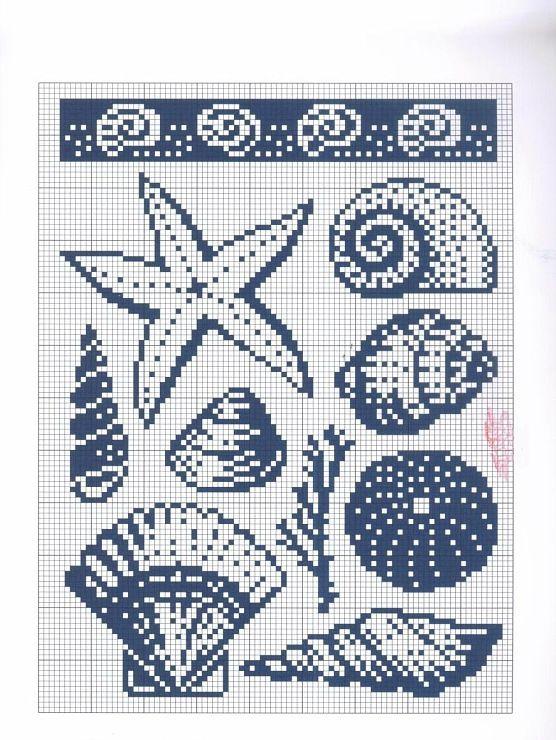 dibujos marinos | patrones bordado