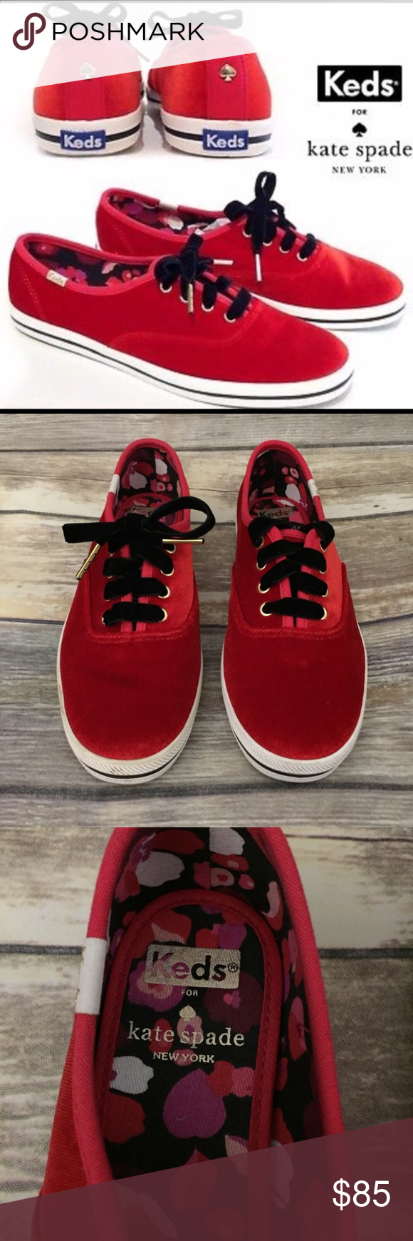 978b1b146817 NEW Keds for Kate Spade New York New Keds for Kate Spade New York Red Velvet  Cute Fashion Sneaker Shoe   New No Box   Keds for Kate Spade Shoes Sneakers