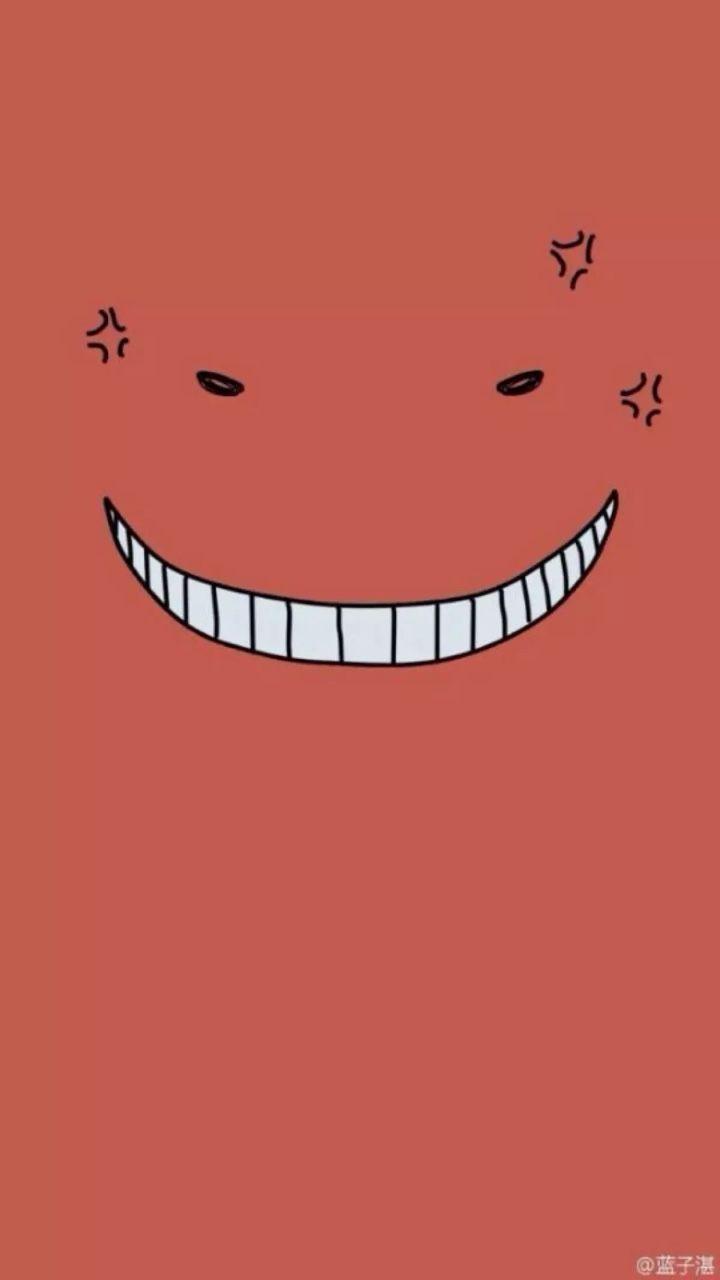 Images By Lena On Fond D'écran Bleu Esthétique   Koro Sensei Face, Anime  239