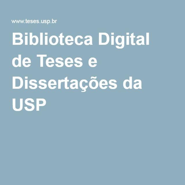 Biblioteca Digital de Teses e Dissertações da USP
