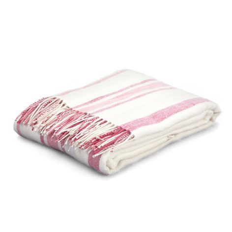 Awning Stripe Cranberry Throw Lauraashleyhome Quilt Sets Stylish Bedroom Beautiful Bedding