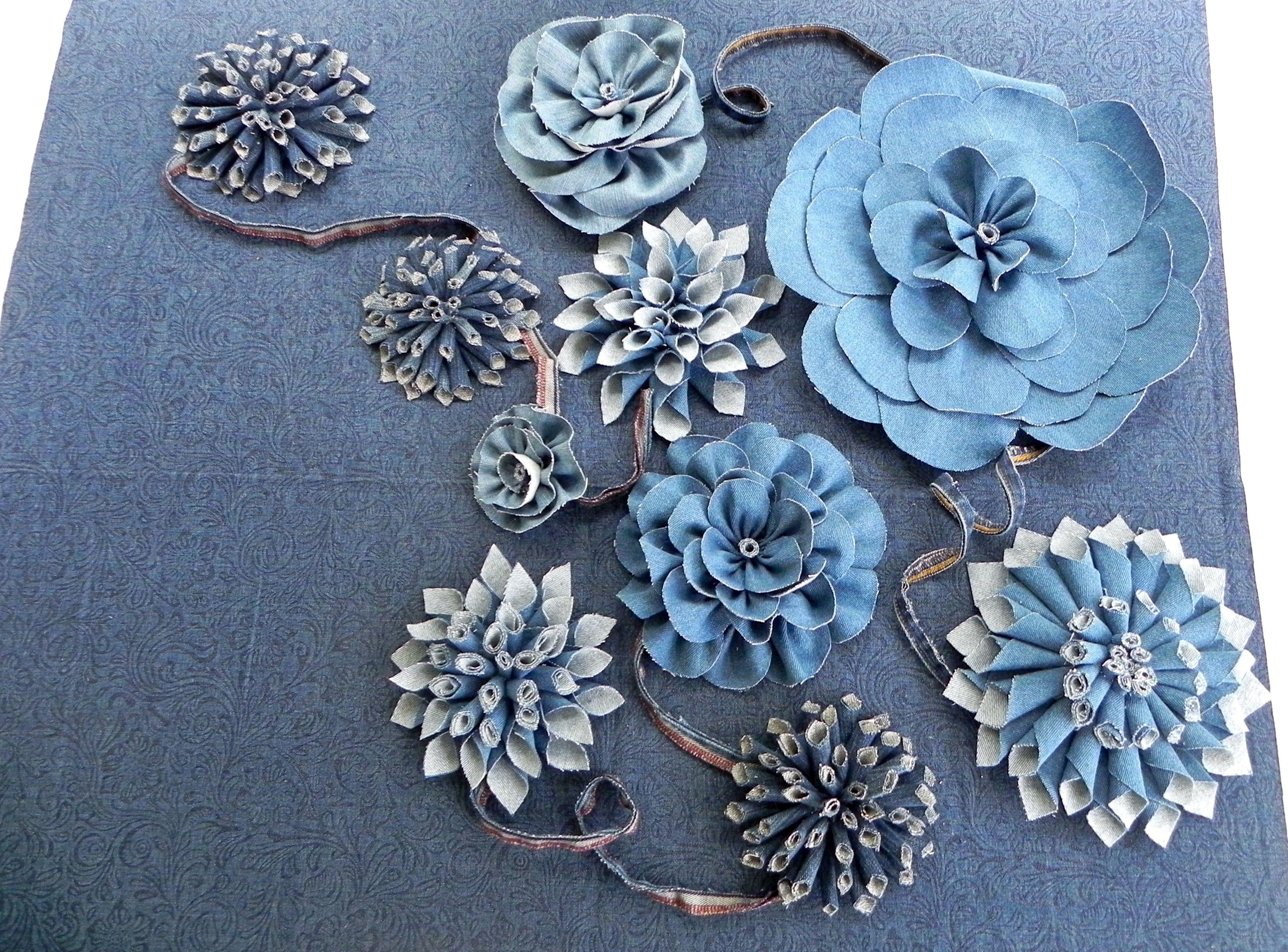 Джинсовые цветы своими руками фото 481