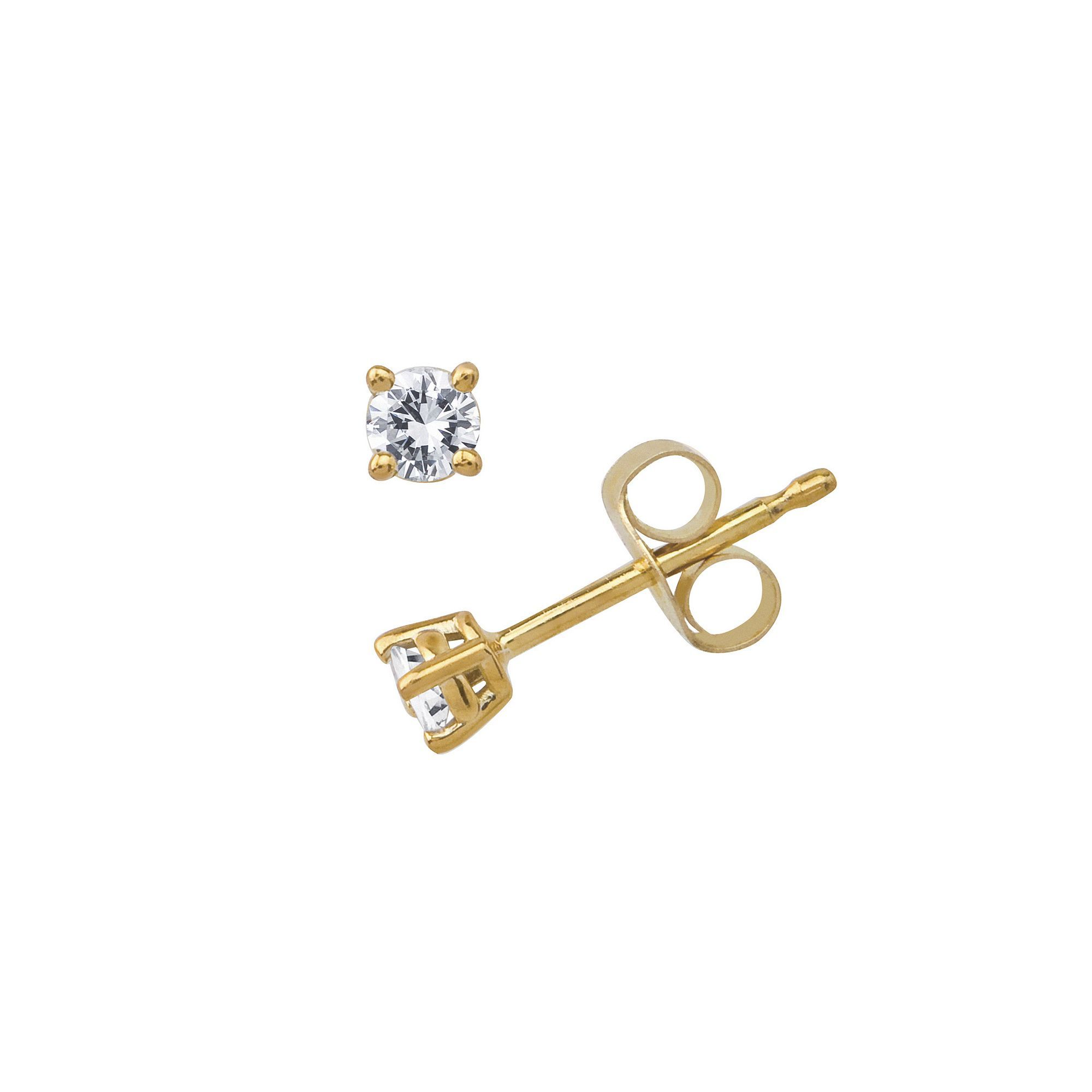 10k Gold 1 10 Ct T W Diamond Stud Earrings Stud Earrings Diamond Studs Earrings
