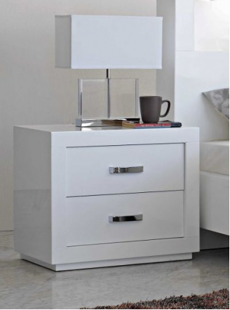 Summit Bedside Table By Stoke Furniture, White Gloss Bedroom Furniture Nz