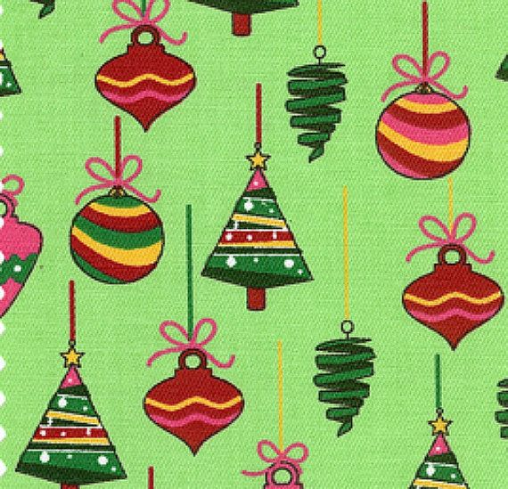 Holiday, Christmas Fabric Yardage - Ornaments by Fabric Finders - 1