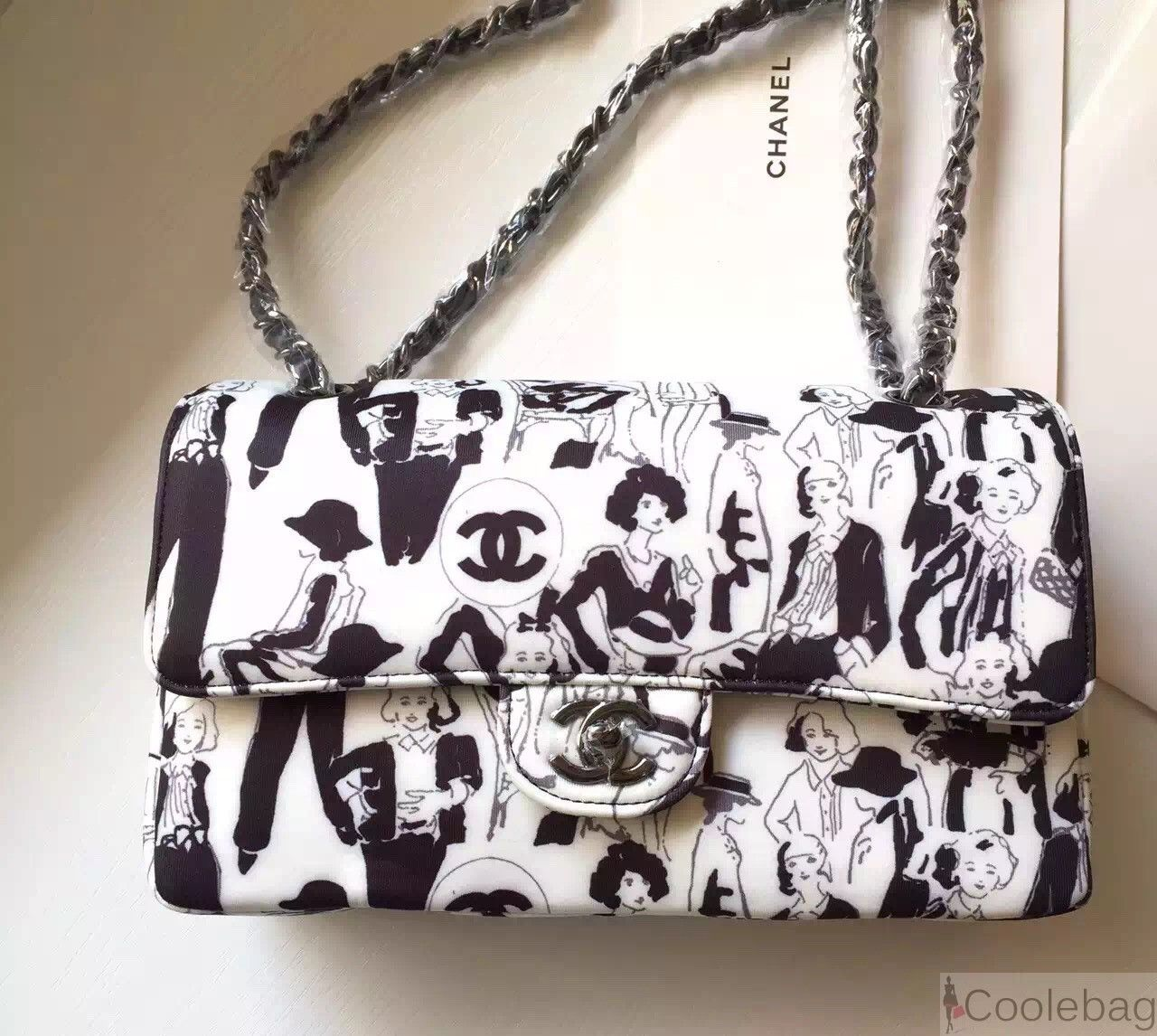 41737cdff31e Chanel Limited Edition Karl Lagerfeld Sketches Classic Flap bag ...