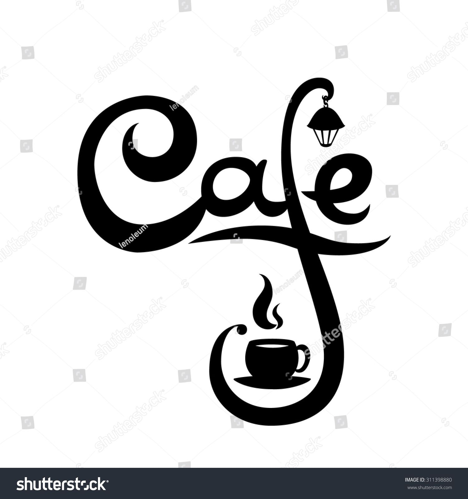 stock-vector-cafe-logo-with-steamed-cup-of-hot-coffee-tea-and ...