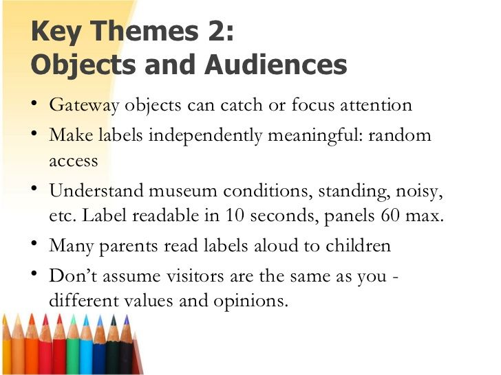 Writing Effective Museum Text How To Make Labels Key Theme Writing
