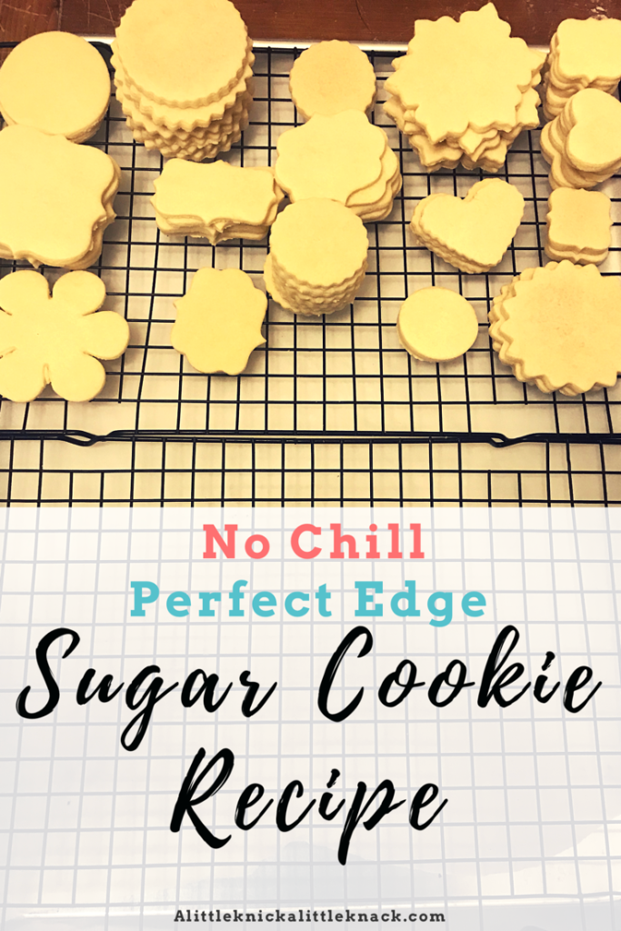 My Favorite Sugar Cookie Recipe - A Little Knick a Little Knack #royalicingrecipe