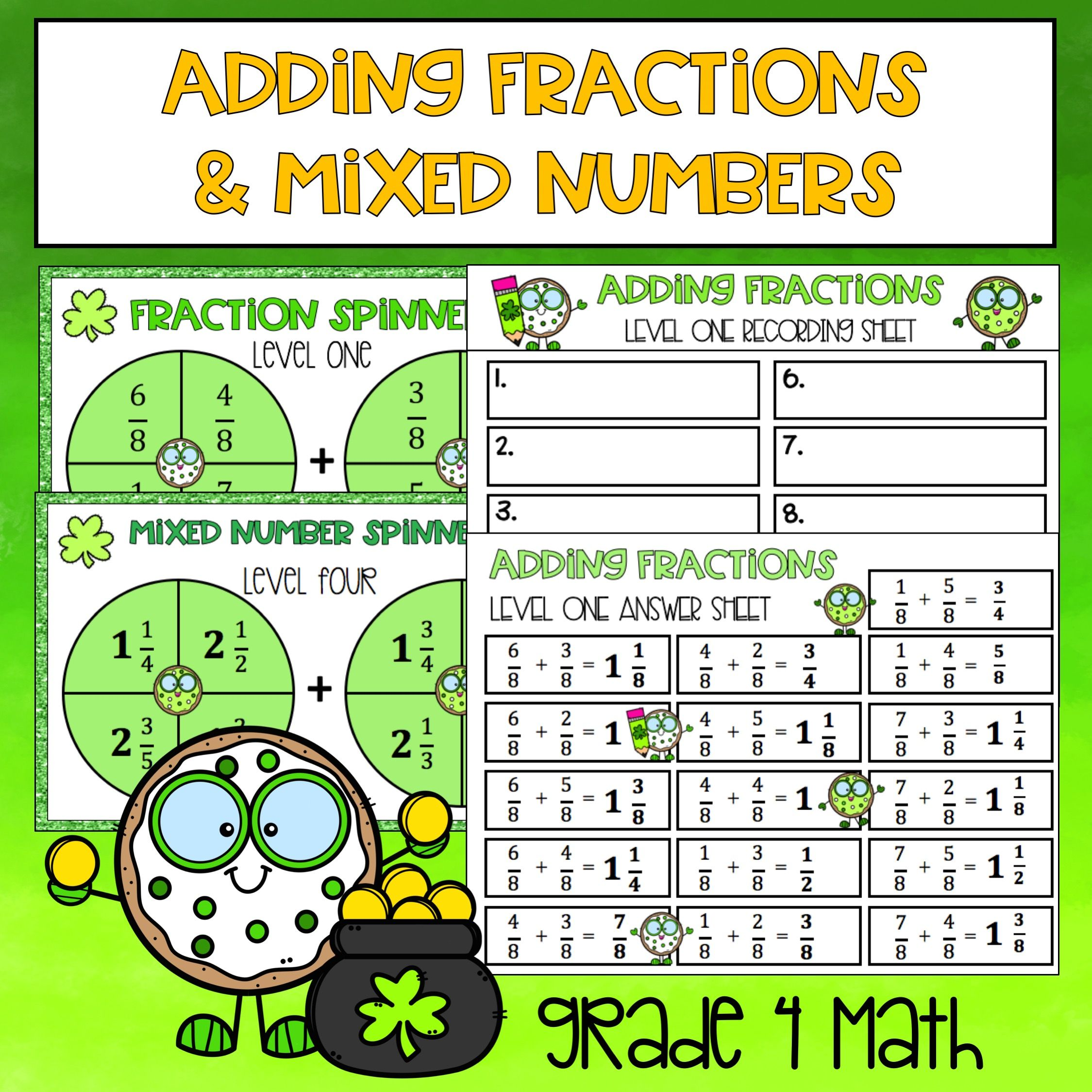 Adding Fractions And Mixed Numbers