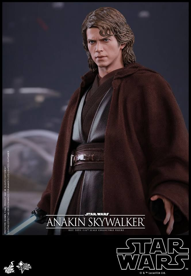 Anakin Skywalker Gets His First Hot Toys 1 6 Scale Figure Anakin Skywalker Hot Toys Star Wars Anakin
