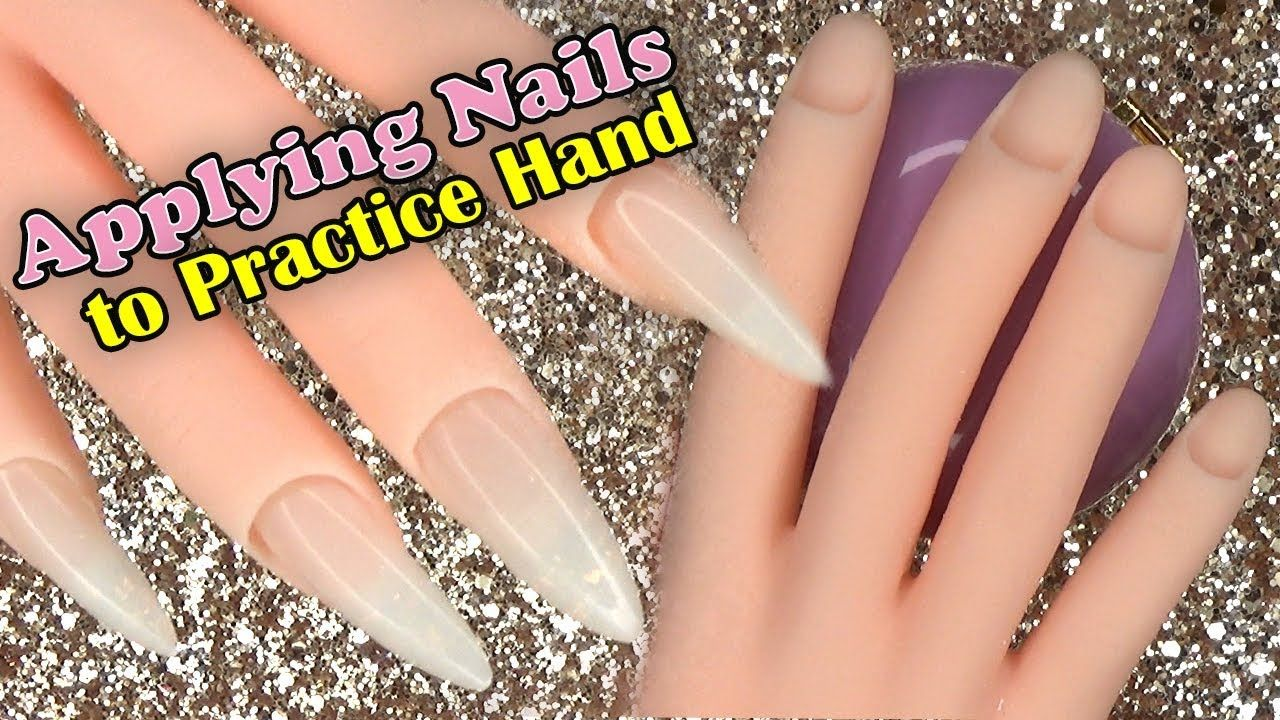 How To Applying Nails To A Practice Hand Longhairprettynails Cotton Candy Nails Nails Acrylic Nails