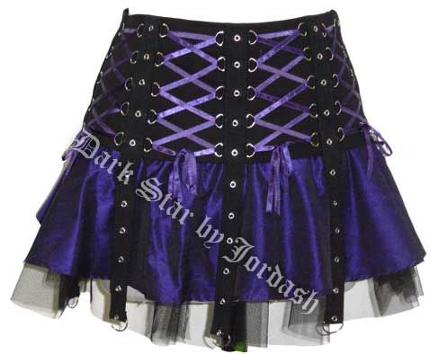 Purple & Black Gothic Witchy Short Corset Skirt | Fashion: Skirts ...