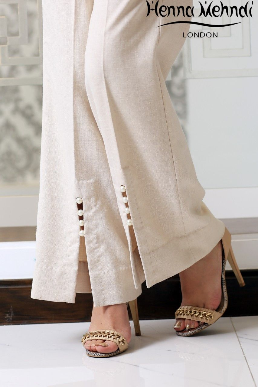 Cream Embellished Trousers In 2018 Suits Pinterest Pp Palazo Kulot Sj0015 Designer Indian Pakistani Available Salwar Embroidered And Bootcut