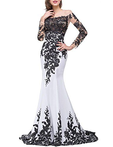 7aa86f21691 OYISHA Womens Appliqued Evening Dress Long Mermaid Wedding Celebrity Gown  EV122 Ivory 14     Visit the image link more details.