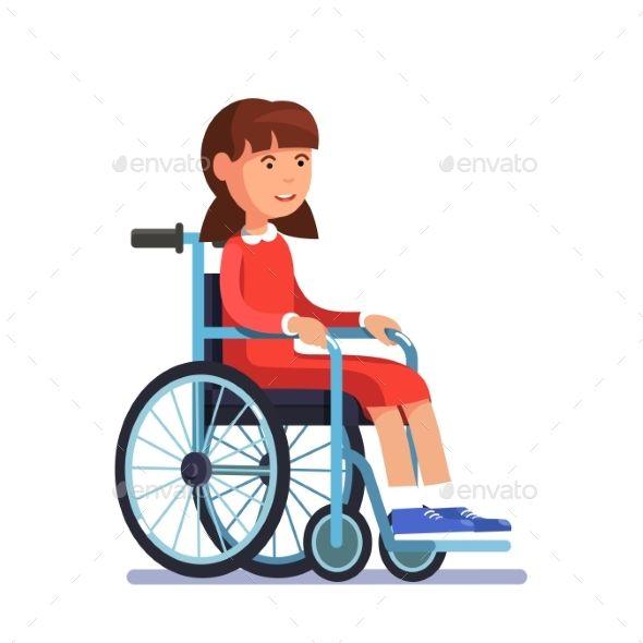 Cute Disabled Girl Kid Sitting in a Wheelchair | Children Book