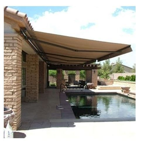 Retractable Patio Awning Sun Rain Shade Shelter Canopy Tent Protection 12 X 10 Outdoor Awnings Backyard Patio Patio Awning
