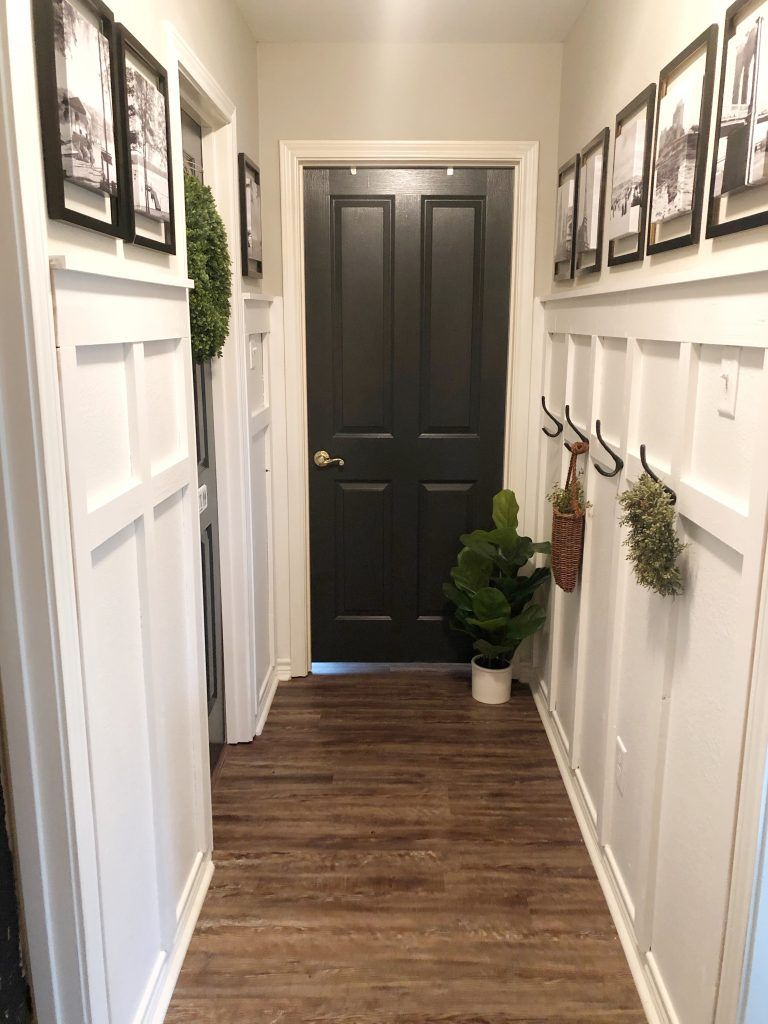 How To Update A Boring Hallway With Board And Batten & A Gallery Wall * Hip & Humble Style #boardandbattenwall