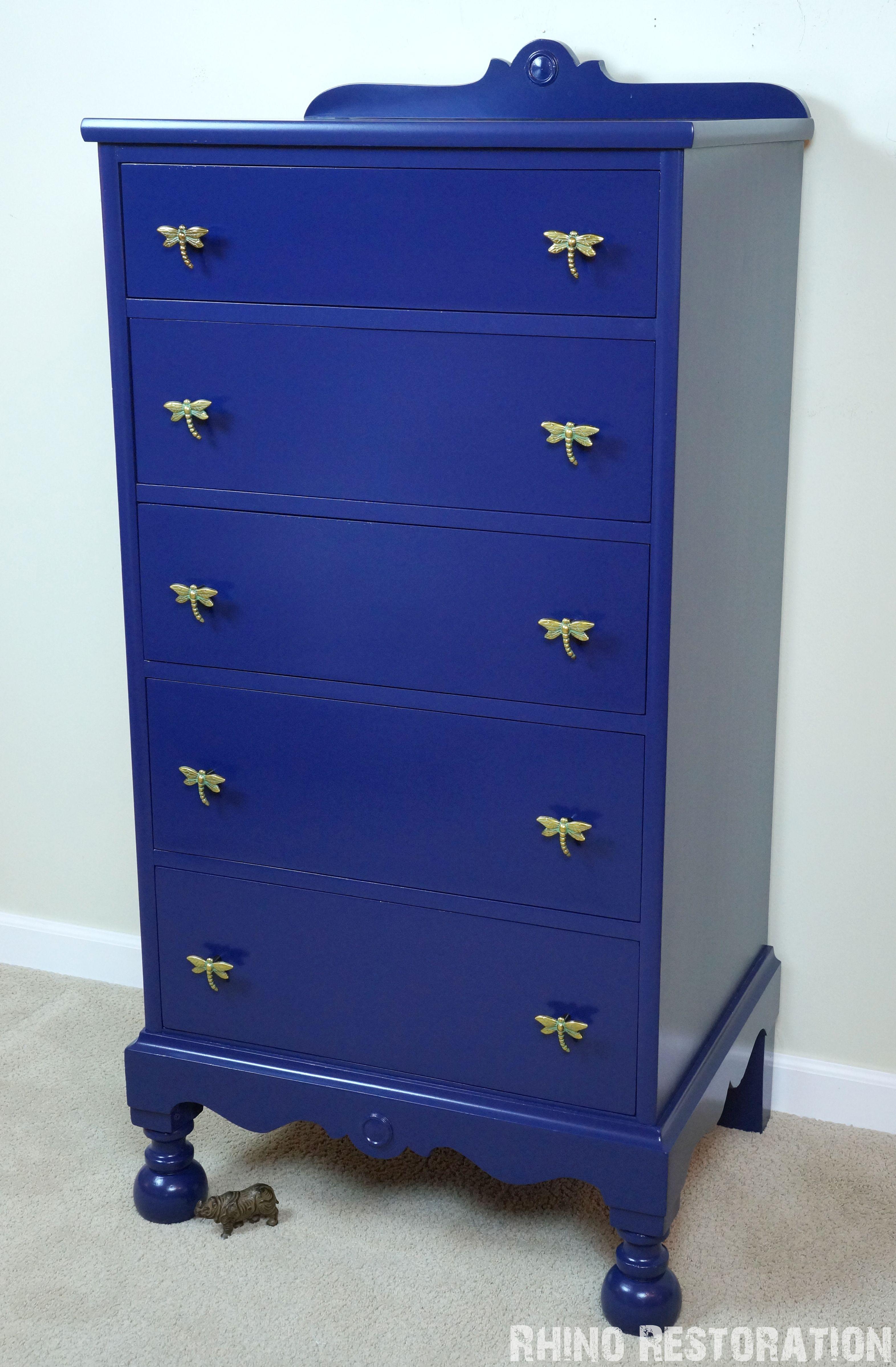 Tall Boy Dresser Painted Quot Manhattan Blue Quot By Behr Paint