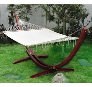 cypress wooden arc hammock stand with hammock cypress wooden arc hammock stand with hammock   outside garden      rh   pinterest