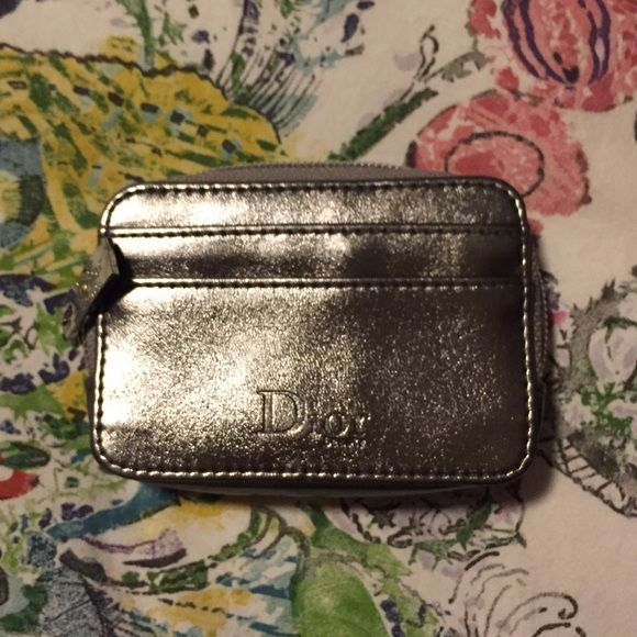 Dior Change Purse Metallic silver. Never used! Dior Bags Wallets