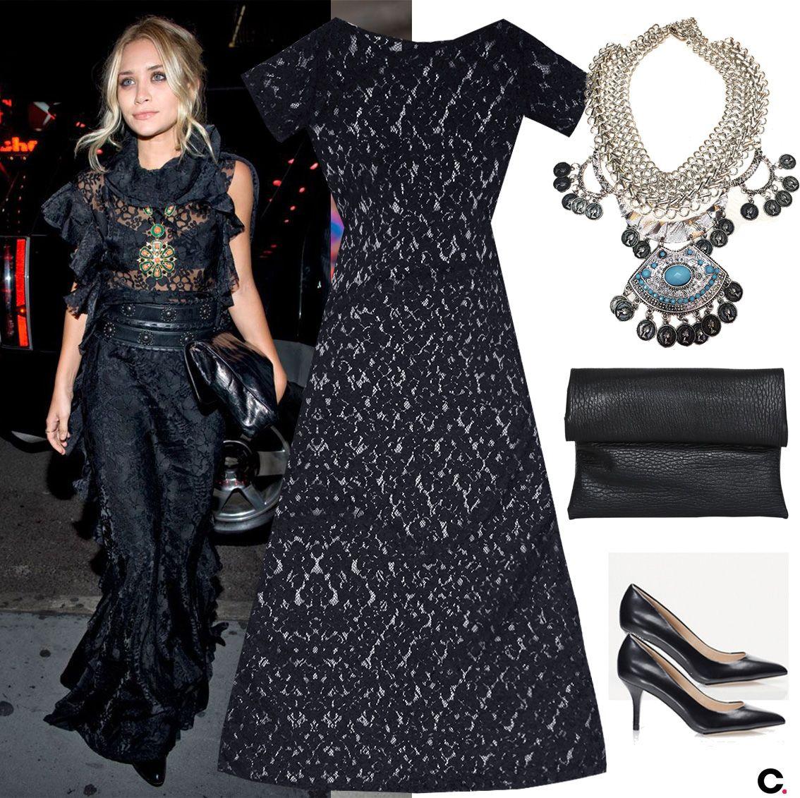 Outfit vestido negro boda