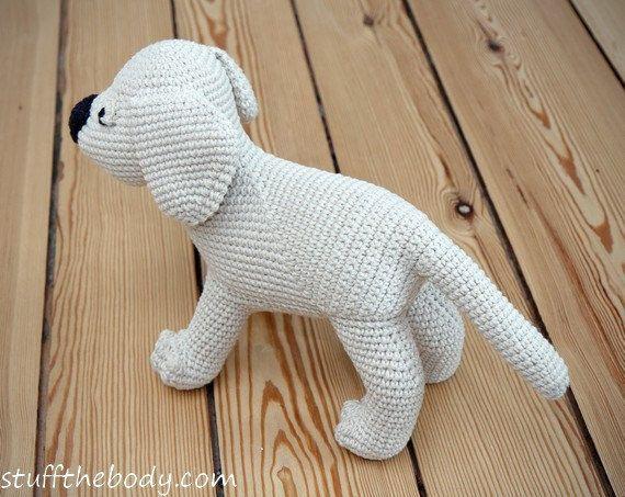 Amigurumi Lion Perritos : Labrador puppy amigurumi pattern dog crochet pattern golden