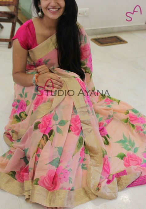Lovely floral saree