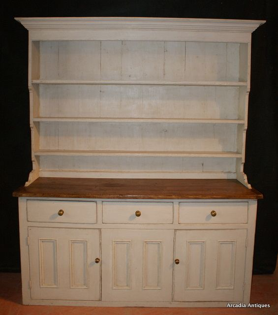 Painted Country House Dresser Antique Pine