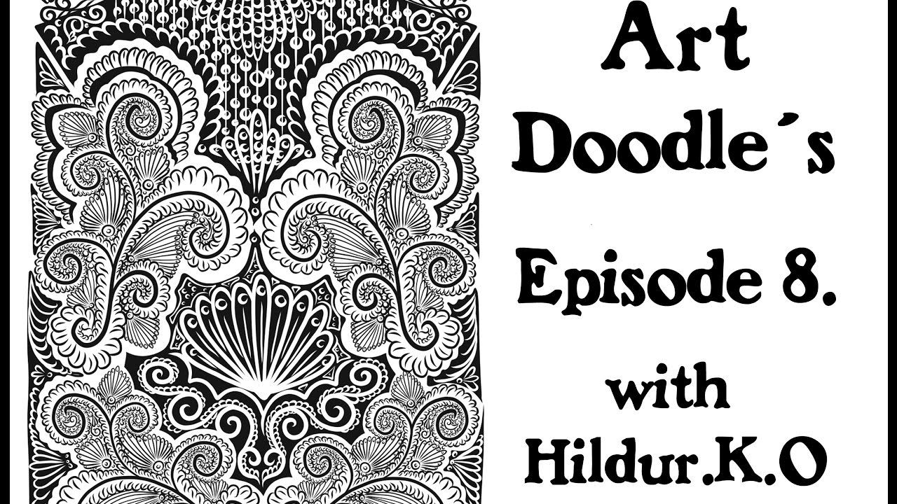 Watch me draw for my coloring book with Hildur.K.O - Episode 8 #illustration  #youtube  #doodles  #abstract #timelapse  #artwork #meditation #coloringforadults #coloringpage #stepbystep