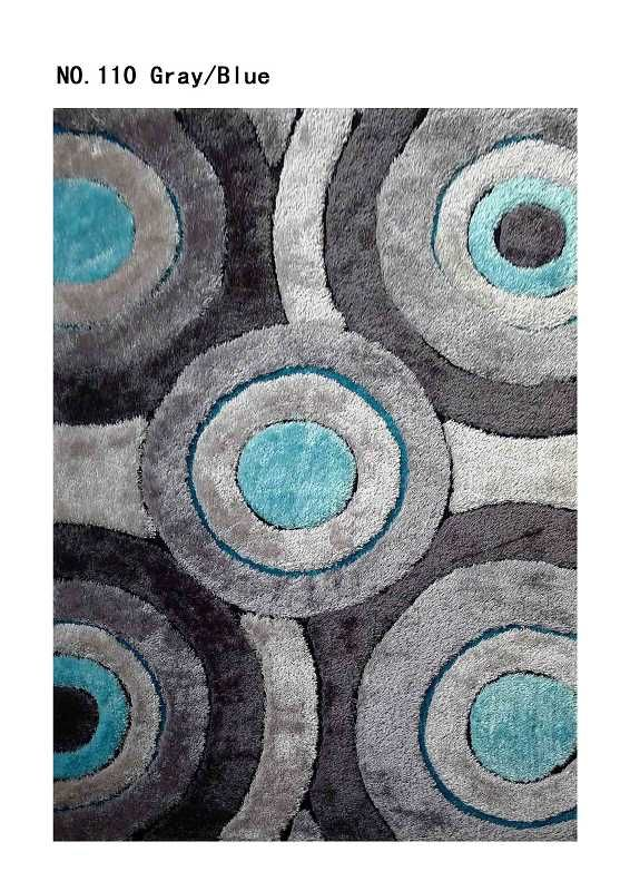 Black And Turquoise Area Rugs | Area Rug Living Shag Gray/Blue