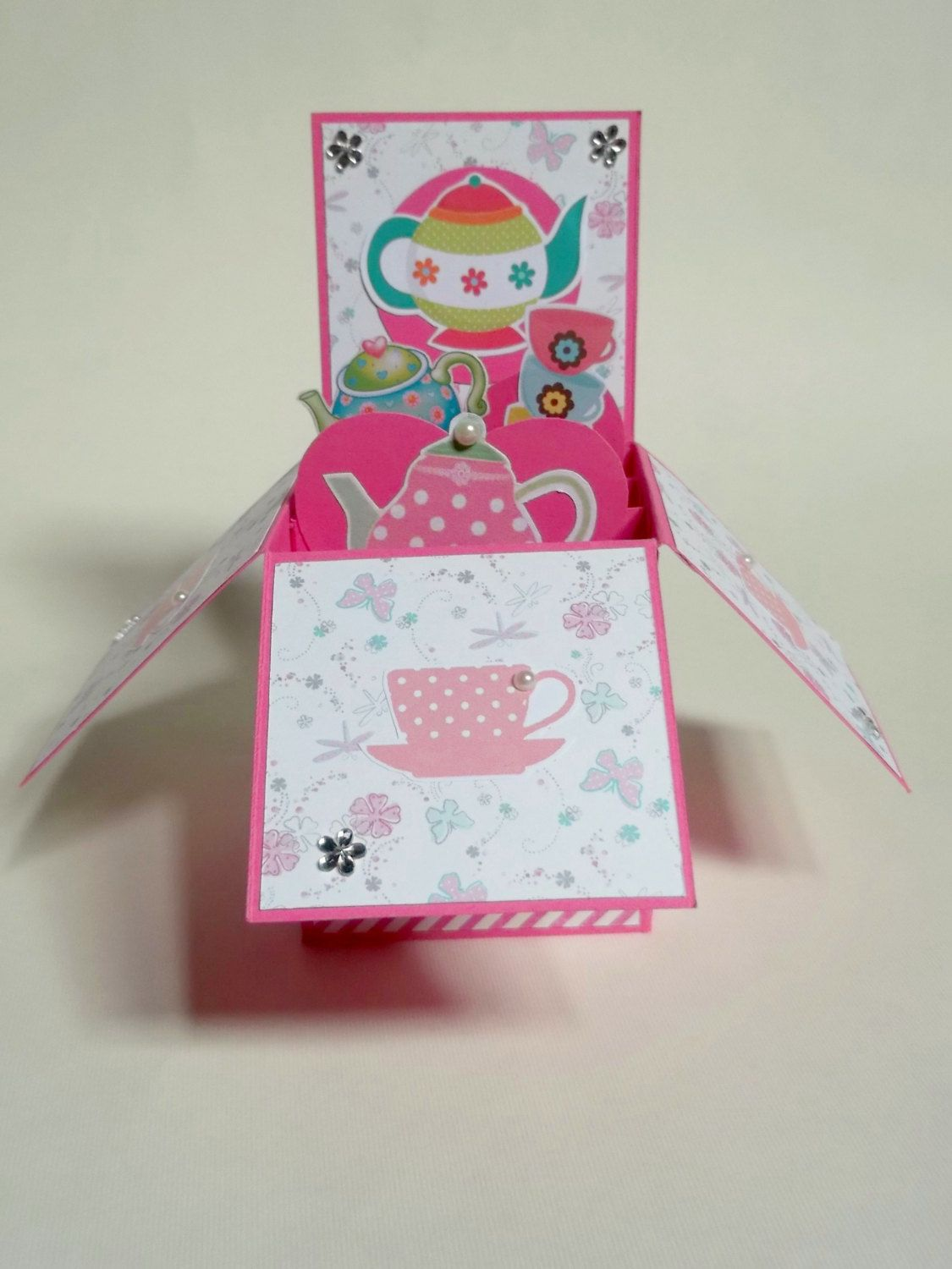 Box Card Happy Birthday Mother's Day Greeting by