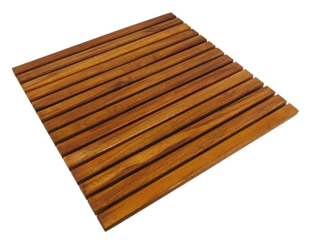 Primematik Caillebotis De Douche En Bois De Teck Certifie 50 X 50 Cm Carre Kz00100 Teak Bathroom Teak Bathroom Flooring