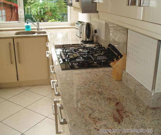 Cream Kitchen Black Worktops: Pin By PolishGraniteLTD On Other Granite And Marble