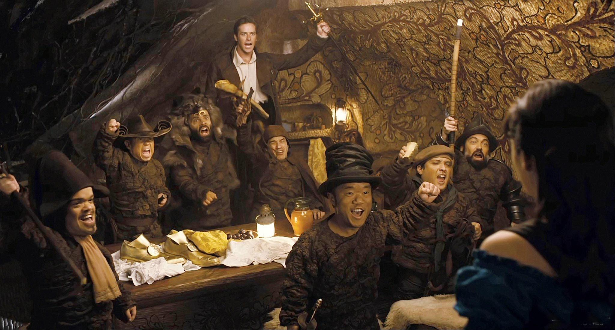 Mirror Mirror movie, 7 dwarves... Napoleon, Butcher, Wolf ...